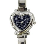 Heart Watch Black - Heart Italian Charm Watch