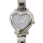 Heart Watch Sliver - Heart Italian Charm Watch
