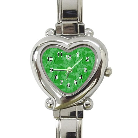 Heart Watch Green By Chere s Creations   Heart Italian Charm Watch   Dyr2za5bponb   Www Artscow Com Front