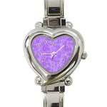 Heart Watch Purple - Heart Italian Charm Watch