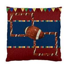 Games We Play Football 2 Sided Pillow By Lisa Minor   Standard Cushion Case (two Sides)   52puax95qn0k   Www Artscow Com Front