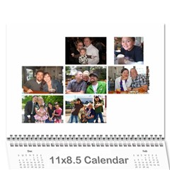 Grammy By Brittany    Wall Calendar 11  X 8 5  (12 Months)   Wh3atotkdinu   Www Artscow Com Cover