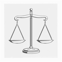 Scales of Justice (bw) Glasses Cloth (Medium)