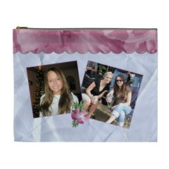 The Friends We Meet     Xl Cosmetic Bag By Lil    Cosmetic Bag (xl)   Brze7mbis24t   Www Artscow Com Front