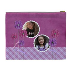Cosmetic Case  Xl  Flowers For You By Jennyl   Cosmetic Bag (xl)   Kl8jzlicdbs2   Www Artscow Com Back