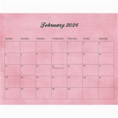 Pinky Green 2015 Calendar By Mikki   Wall Calendar 11  X 8 5  (18 Months)   Sxom74hcx8nr   Www Artscow Com Feb 2016