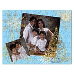 gold xmas tree puzzle - Jigsaw Puzzle (Rectangular)