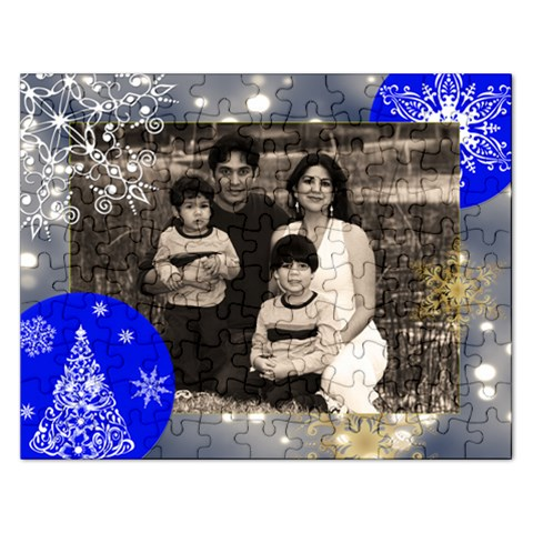 Xmas Gray Light W/snowflakes Puzzle By Ivelyn   Jigsaw Puzzle (rectangular)   4u491q3f3315   Www Artscow Com Front