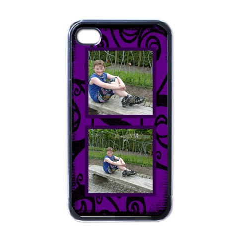 Purple Fantasia I Phone Case By Catvinnat   Apple Iphone 4 Case (black)   Dcjowxifyjsa   Www Artscow Com Front