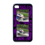 purple fantasia i phone case - Apple iPhone 4 Case (Black)