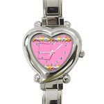 Birthday heart watch - Heart Italian Charm Watch