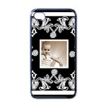 art nouveau classic black & white i phone case - Apple iPhone 4 Case (Black)