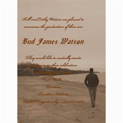 Bud Watson Graduation Announcement By Lindsey Hayes   5  X 7  Photo Cards   Mqmofkvedbpe   Www Artscow Com 7 x5 Photo Card - 7