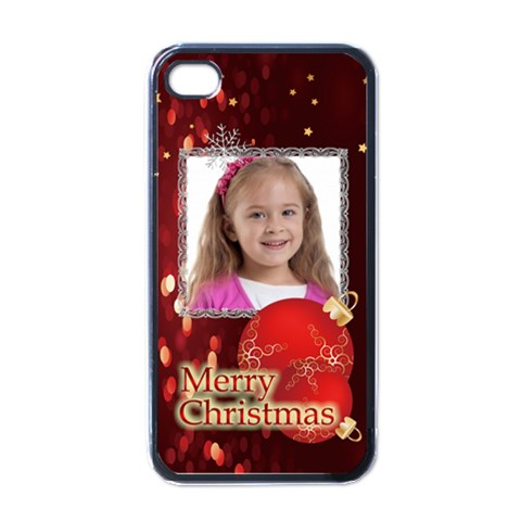 Christmas  By Wood Johnson   Apple Iphone 4 Case (black)   Cni15zfadjor   Www Artscow Com Front