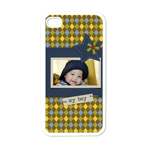 Apple Iphone 4 Case (white)   My Boy By Jennyl   Apple Iphone 4 Case (white)   Mp47zypu4yfx   Www Artscow Com Front
