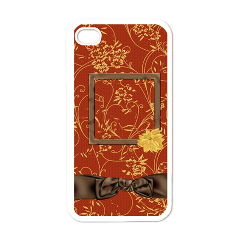 Autumn Story Iphone Case 1 By Lisa Minor   Apple Iphone 4 Case (white)   Xqvjlgye2em4   Www Artscow Com Front
