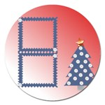 Christmas tree - Magnet 5  (Round)