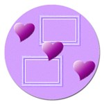 Purple hearts - 5  magnet - Magnet 5  (Round)