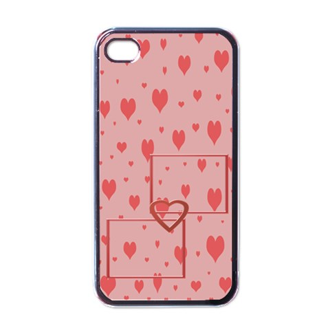 Hearts Iphone Case By Daniela   Apple Iphone 4 Case (black)   Jugewf2319ql   Www Artscow Com Front