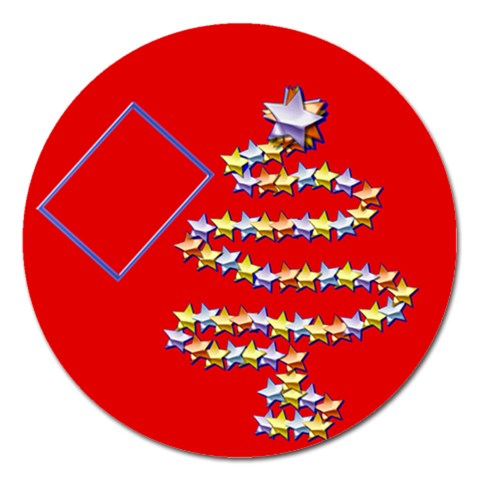 Christmas Tree   5  Magnet By Daniela   Magnet 5  (round)   Kca8n1l5fra4   Www Artscow Com Front