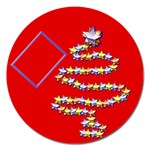 Christmas tree - 5  magnet - Magnet 5  (Round)