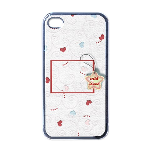 With Love   Iphone Case By Daniela   Apple Iphone 4 Case (black)   Jorykovxxo19   Www Artscow Com Front