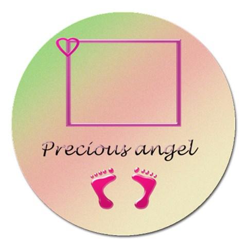 Precious Angel   5   By Daniela   Magnet 5  (round)   Xjip3103jyw1   Www Artscow Com Front