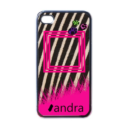 Pink Zebra   I Phone Case By Carmensita   Apple Iphone 4 Case (black)   E0rpoxagl30h   Www Artscow Com Front