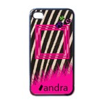 Pink zebra - i-PHONE case - Apple iPhone 4 Case (Black)