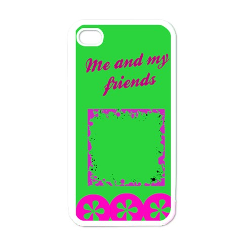 Me And My Friends   I Phone Case By Carmensita   Apple Iphone 4 Case (white)   D7qurykv1005   Www Artscow Com Front