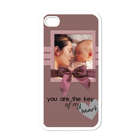 You Are The Key Of My Heart   I Phone Case By Carmensita   Apple Iphone 4 Case (white)   C11jckifbywi   Www Artscow Com Front