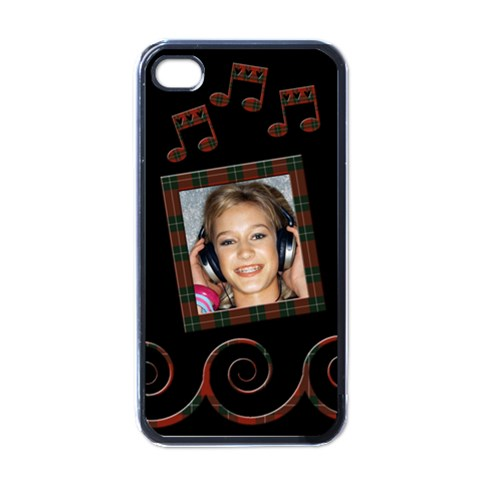 Music   I Phone Case By Carmensita   Apple Iphone 4 Case (black)   Rfnrophesrrv   Www Artscow Com Front