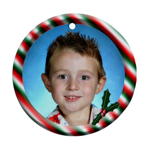 Holly By Chere s Creations   Ornament (round)   Nmja1zvtnen7   Www Artscow Com Front