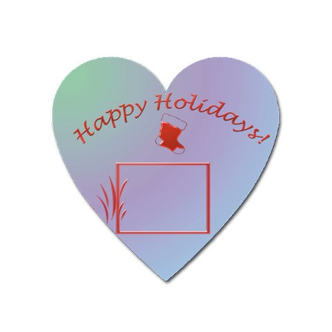 Happy Holidays   Heart Magnet By Daniela   Magnet (heart)   Dma0gyt5p0yz   Www Artscow Com Front