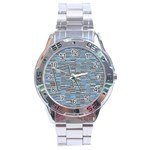 Blue stainless steel watch - Stainless Steel Analogue Men's Watch