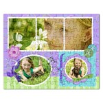 Rectangle Puzzle Template Spring - Jigsaw Puzzle (Rectangular)