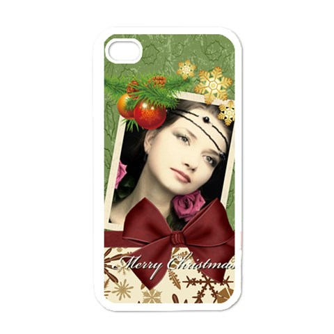 Merry Christmas By Joely   Apple Iphone 4 Case (white)   Krvd52oqozqu   Www Artscow Com Front