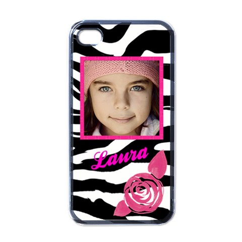 Iphone 4 Zebra Pink Case By Jorge   Apple Iphone 4 Case (black)   Ns8pc7nqgc18   Www Artscow Com Front