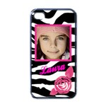 Iphone 4 zebra pink case - Apple iPhone 4 Case (Black)