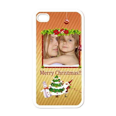 Christmas By Wood Johnson   Apple Iphone 4 Case (white)   Skt76mmkv4aq   Www Artscow Com Front