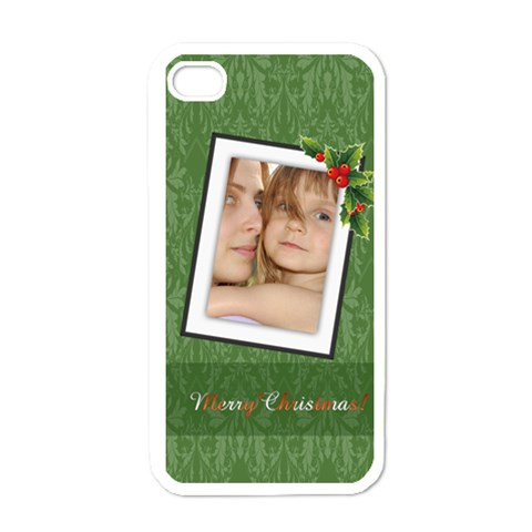 Christmas By Wood Johnson   Apple Iphone 4 Case (white)   16o6dwbaf6ou   Www Artscow Com Front