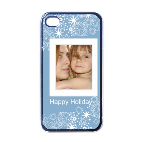 Christmas By Wood Johnson   Apple Iphone 4 Case (black)   0u560k9vexwt   Www Artscow Com Front