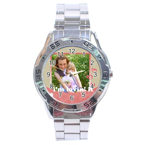 I Lovin it By Joely   Stainless Steel Analogue Watch   5nn6gkkbjie5   Www Artscow Com Front