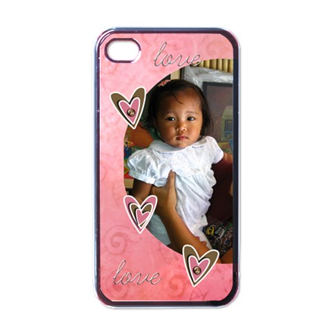 Apple Iphone 4 Case (black)    Love Love By Jennyl   Apple Iphone 4 Case (black)   7xt60ertazte   Www Artscow Com Front