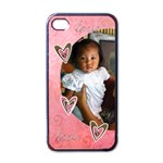 Apple iPhone 4 Case (Black)  - Love Love