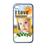 i love summer - Apple iPhone 4 Case (Black)