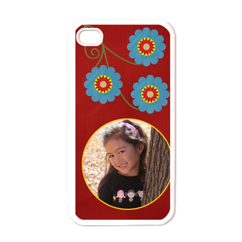 Apple Iphone 4 Case (white)   Swirls And Flowers By Jennyl   Apple Iphone 4 Case (white)   Szqnh3xz3str   Www Artscow Com Front