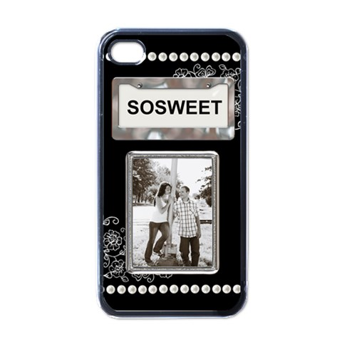 So Sweet Apple Iphone Case By Lil    Apple Iphone 4 Case (black)   Rpydl478ah41   Www Artscow Com Front