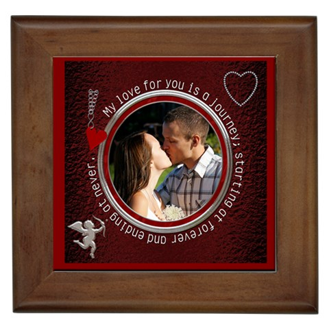 My Love For You Framed Tile By Lil    Framed Tile   A92p6n1rlx5s   Www Artscow Com Front