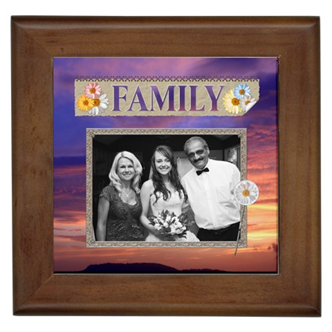 My Family Framed Tile By Lil    Framed Tile   Dpk1iktu6a40   Www Artscow Com Front